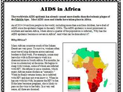 AIDS in Africa READING and Questions– The Modern World (World History)