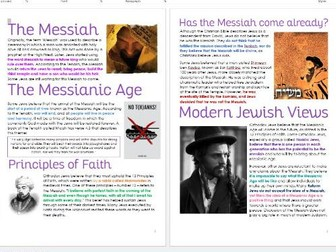 Judaism: Messiah: Differentiated Information and Task Sheets