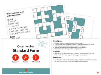 Standard Form (Crossnumber)