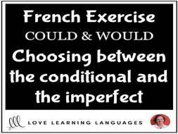 French Conditional and Imperfect Tenses - COULD and WOULD
