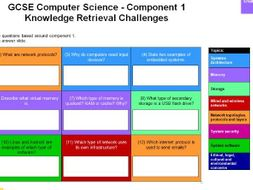 10x GCSE 9-1 Computer Science Challenge Grids (& Answers)