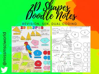 2D Shapes Maths Doodle Note