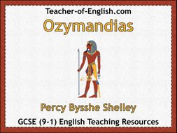 Ozymandias (35 slide PowerPoint and 5 worksheets)