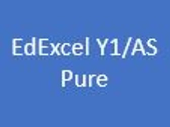 EdExcel AS/A Level Pure Maths Year 1 - Student Chapter Booklets and Dr Frost Presentation