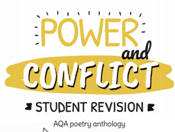 GCSE Power and Conflict - Key Poems