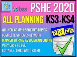 PSHE Planning - 2020