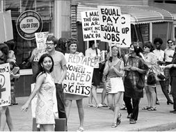 US Women's Civil Rights 1950 - 1980s  Flash Revision Cards / Dingbats