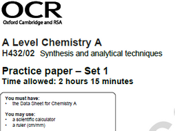 Self assessment activity for ocr a level chem practice paper set 1 self assessment activity for ocr a level chem practice paper set 1 paper urtaz Gallery