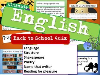 English Back to School Quiz