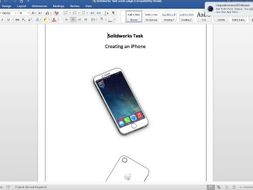 Creating a basic iPhone on solid works