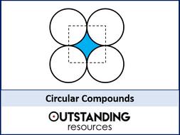 Circles 5 - Compound Area involving Circles (circular compounds) + worksheet