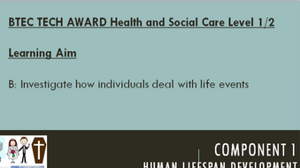BTEC Health & Social Care Tech Award Component 1 Learning Aim B