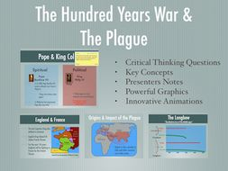 The Hundred Years War and The Plague Power Point  and Keynote Presentations