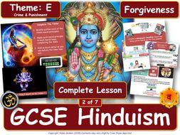 Forgiveness - Hindu Views  & Teachings(GCSE RS - Hinduism - Religion, Crime & Punishment) L2/7