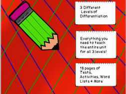 Year 3 Spelling Unit Long E Patterns- 3 Different Levels of Differentiation