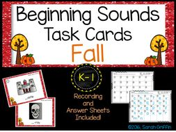 Beginning Sounds SCOOT Task Cards - Reading & Writing Center