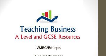 Eduqas Teacher PowerPoint Pack (Component 3: Business in a Changing World)