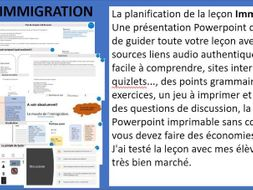 Immigration - past tense - French class