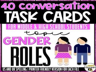 Conversation Starter Cards   Gender Roles   Social Skills for Middle&High