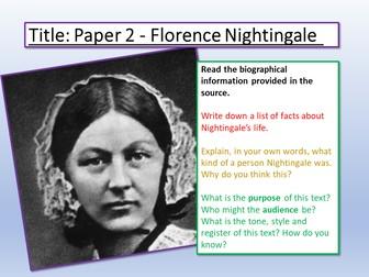 AQA Language Paper 2: Florence Nightingale