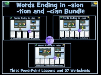 -tion, -sion, -cian suffixes