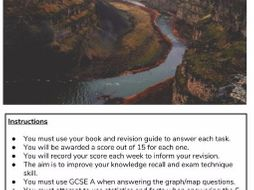 AQA New 9-1 GCSE Geography - Revision Question Booklets - Urban; Economic World; RM; Rivers ;Coasts