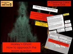 A Christmas Carol: Marley's Ghost Exam Question Step by Step
