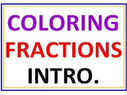 Coloring Fractions Introduction