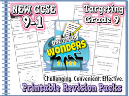 GCSE 9-1 Maths Revision-  Higher Extension Revision Pack With Solutions- Target Grade 8/9