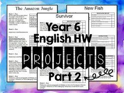 Year Six English Homework-part 2