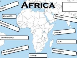 A Country in Africa Fact File