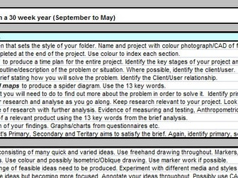 AS and A Level Project Checklist