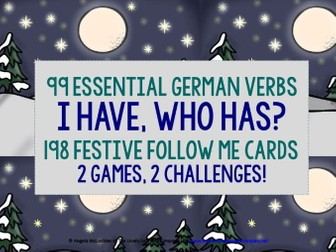 GERMAN VERBS CHRISTMAS I HAVE WHO HAS GAMES