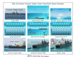 Present Simple Tense English Battleship PowerPoint Game