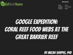 Coral Reef Food Webs at the Great Barrier Reef #GoogleExpedition
