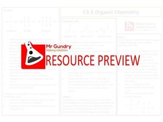 AQA C3.5 Organic Chemistry Revision Sheet