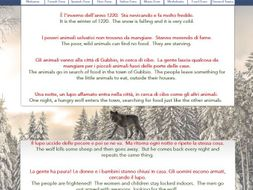 The Wolf of Gubbio, worksheet for class discussion
