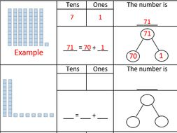 place value worksheet aimed at year 2 maths no problem chapter 1 lesson 2 by kita87. Black Bedroom Furniture Sets. Home Design Ideas