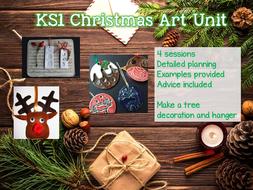KS1 CHRISTMAS Art Unit - 4 sessions
