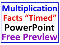 "Multiplication Facts FREE PREVIEW ""Timed"" PowerPoint Lesson"