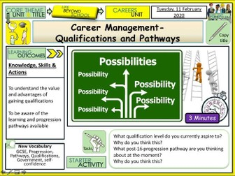 Qualifications and Pathways + Careers