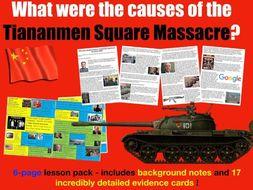 the tiananmen square massacre was a response to