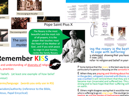 Eduqas Route B Component 2 Good & Evil. Edexcel A.  The Rosary as a response to suffering