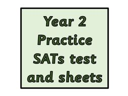 Year 2 SATs sheets for practice and practice Arithmetic test