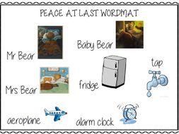 Peace at Last Word Mat