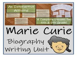 UKS2 Literacy - Marie Curie Biography Writing Unit