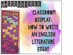 Literary Essay Thesis Examples How To Write An English Essay  Classroom Display Science Essay Topics also Essay Writings In English How To Write An English Essay  Classroom Display By Otooleg  Sample High School Essay