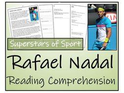 UKS2 Literacy - Rafael Nadal Reading Comprehension Activity
