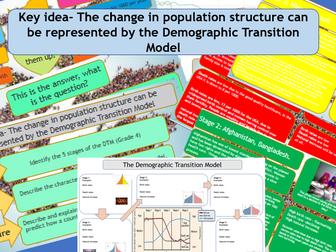 GCSE AQA 9-1 The Demographic Transition Model ( Carousel Activity).
