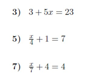Two-step equations worksheet (with solutions)